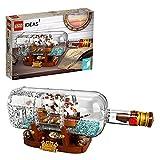 LEGO 92177 Ideas Barco en una Botella Set de Construcción de Coleccionistas con Soporte para Exposición para Niños +12 años