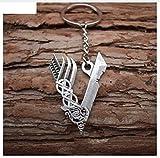 Llavero vikingo con símbolo de vikingo V, de metal, Odin   Thor   Valknut   Regalo   Hombres   Nordmann   Walhalla   mitología