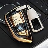 XUANXIAOBAO Cáscara de la Llave del cocheAdecuado para BMW X5 F15 X6 F16 2015 X1 X3 525i M760 740 730 Cubierta de la Caja de la Carcasa del Llavero del Estilo del Coche ABS con Llavero