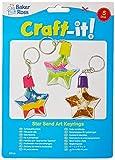Baker Ross Llaveros en forma de estrella para decorar con arena de 6 cm con embudo para que los niños diseñen y decoren con arena de colores (pack de 5).