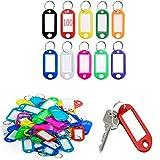 100 Llaveros con Etiqueta,viene con la etiqueta intercambiable ,Llaveros para Hotel Escuela de Oficina EquipajeHogar 10 Colores