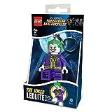 LEGO DC Comics Llavero con Linterna Súper Héroes: The Joker, Color Negro, Verde, 10 cm (812755L)