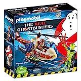 PLAYMOBIL Ghostbusters Venkman con Helicóptero y Chorros de Agua Reales, a Partir de 6 Años (9385)