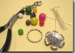 Pinzas para hacer llaveros de cristal