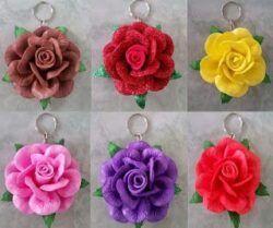 llaveros de rosas